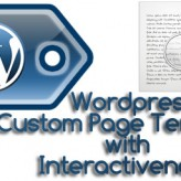 The concept behind making an Interactive WordPress Custom Page