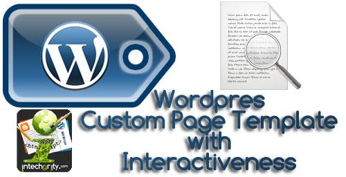 custom-page-template