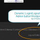 Add dynamic Login Logout n Site Admin button to WordPress using WP API