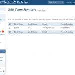 Users Editing team members