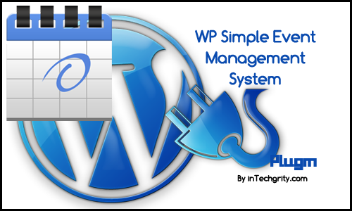 wp simple event management system