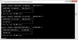 MySQL ADDTIME and SUBTIME