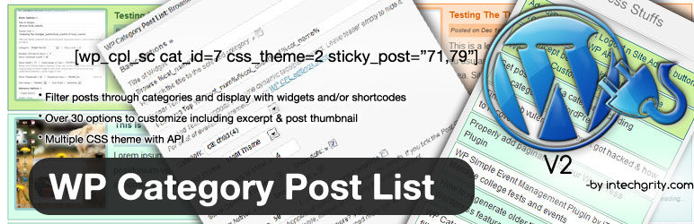 WP Category Post List