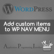Add home & other items directly in WP Nav Menu using wp_nav_menu_items filters