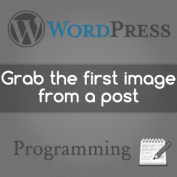 Catch the first image on WordPress post and use as thumbnail