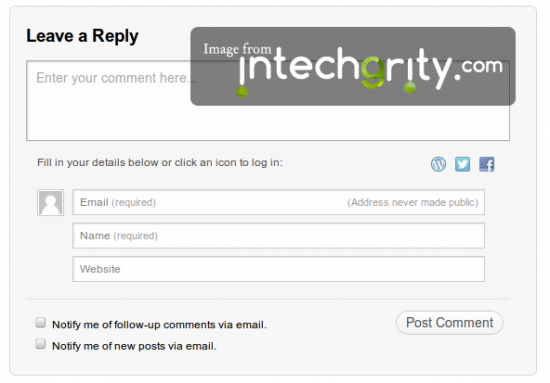 Complete Layout of WordPress JetPack Comments