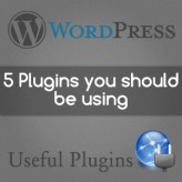 Five WordPress Plugins You Should be Using