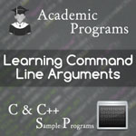 How to write programs using command line arguments in c