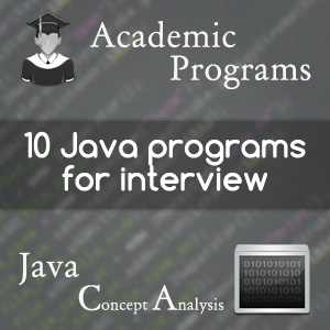 10 java programs for technical interview