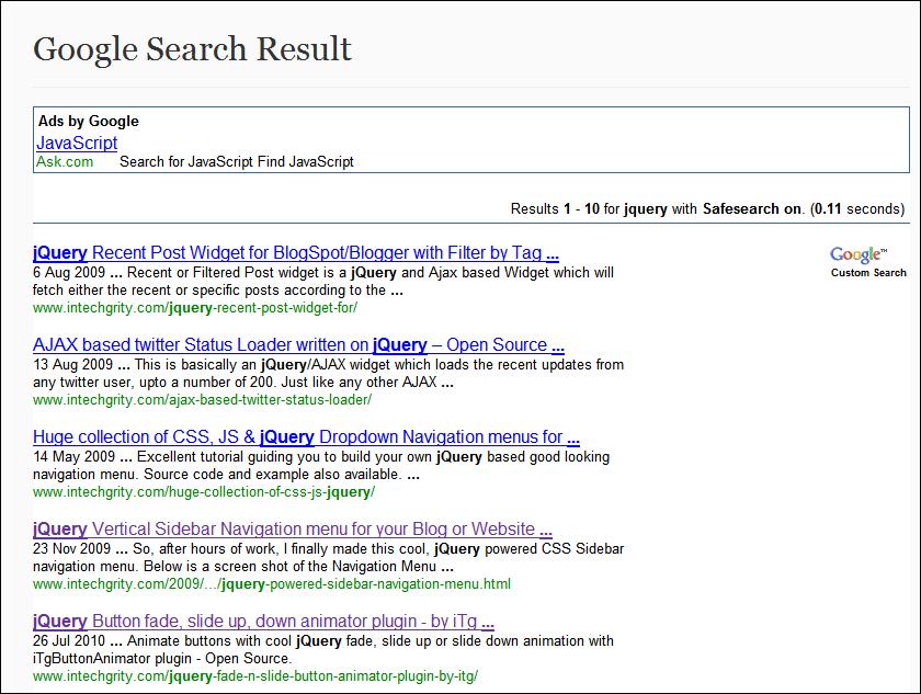 Adsense For Search On Wordpress Using Custom Page Template - Wordpress custom template