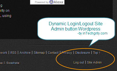 dynamic login logout button wordpres