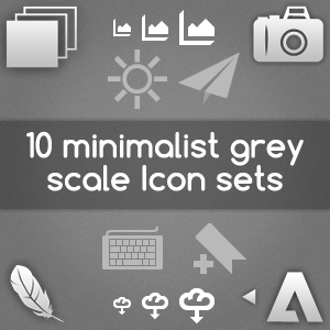 10 Free Minimalist Grey Scale Icon Sets For Your Web Design