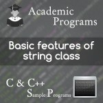 manipulating string objects using string class